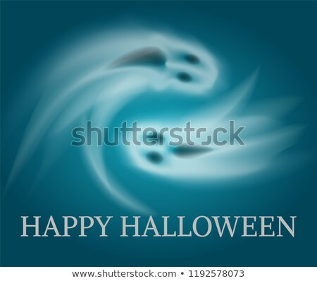 Happy Halloween Swirling Sad Apparitions Vector Stock photo © robuart