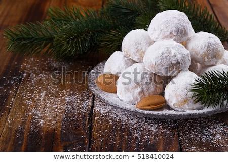 Görög házi készítésű karácsony sütik mandulák porcukor Stock fotó © mpessaris