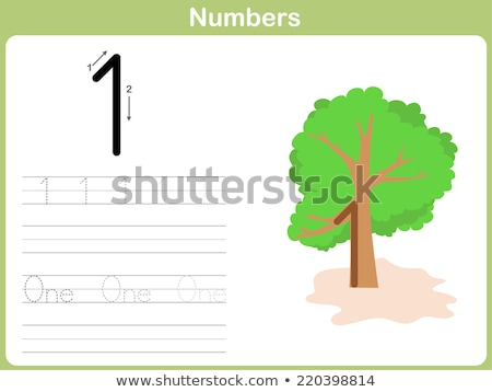 Number one tracing alphabet worksheets Stock photo © colematt