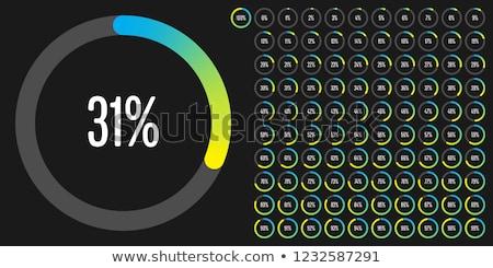 пирог · файла · иконки · синий · кольца - Сток-фото © robuart