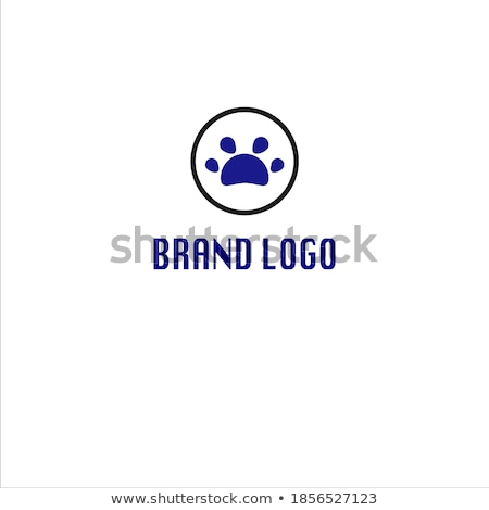 Black And White Bear Paw With Claws Circle Logo Design Stock photo © hittoon