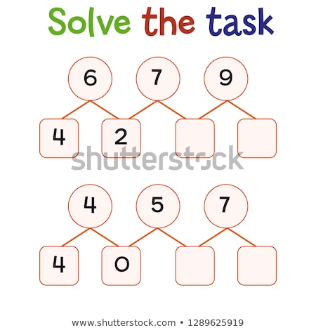 maths subtraction educational task for kids Stock photo © izakowski