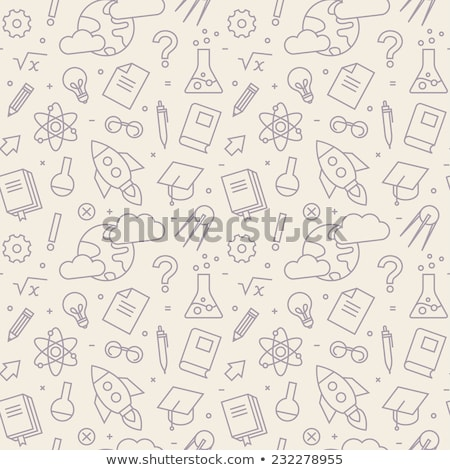 physics icons pattern stock photo © netkov1