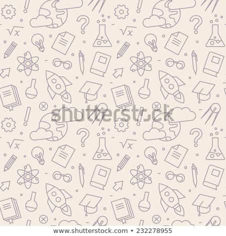 Physik Symbole Muster Ausrüstung Computer Stock foto © netkov1