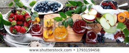 Zachowane żywności banery owoce jagody zdrowych Zdjęcia stock © robuart