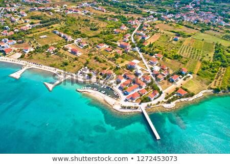 Emerald strand haven luchtfoto regio Kroatië Stockfoto © xbrchx