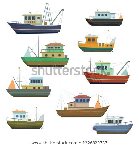 Buque de vapor marinos transporte barco vela agua Foto stock © robuart