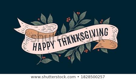 Happy thanksgiving card template Stock photo © colematt