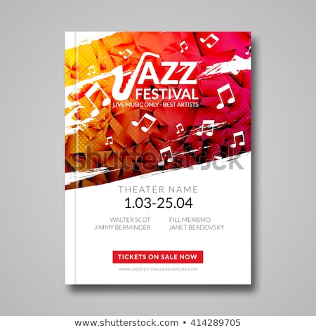 Vector jazz poster with musical instruments and text Foto stock © Giraffarte