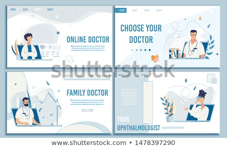 Online Medical Help and Consultation Website Set Stockfoto © robuart