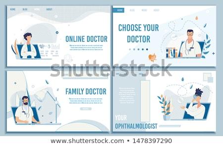 Zdjęcia stock: Online Medical Help and Consultation Website Set