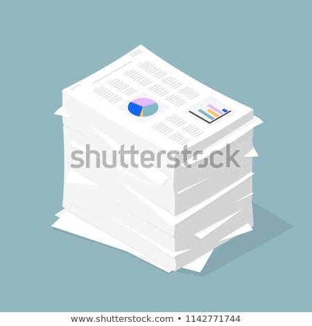 Icono papel documentos negocios Foto stock © ussr
