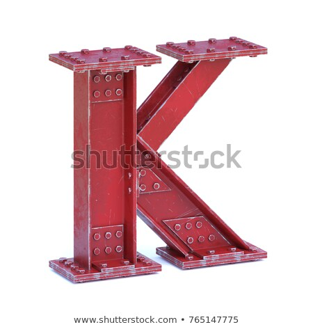 Rusty metal font Letter K 3D Stock photo © djmilic