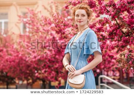 ファッション · 少女 · ピンク · 袋 · デニム · 服 - ストックフォト © ElenaBatkova