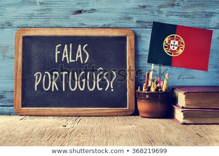 question do you speak Portuguese? in Portuguese Stock photo © nito