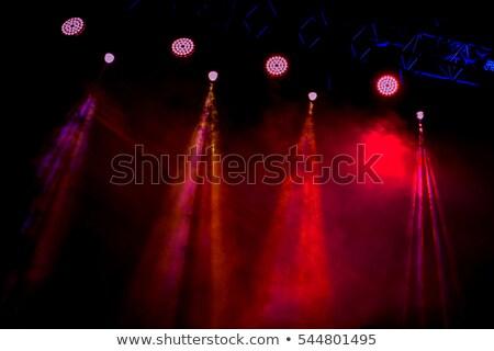 niebieski · etapie · wiszący · oświetlenie · rury · strony - zdjęcia stock © unweit