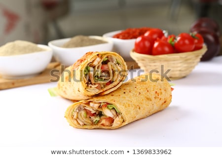 Lavash rolls with chicken and vegetables stock photo © furmanphoto