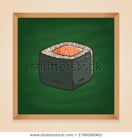 Vector sushi kleur schets avocado rollen Stockfoto © netkov1