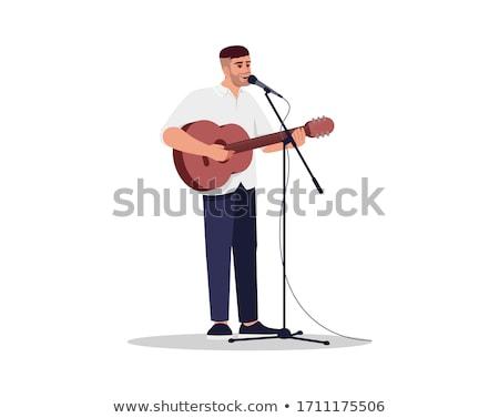 歌 マイク 現実的な ベクトル 歌 シーン ストックフォト © robuart