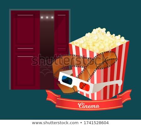sinema · sandalye · vektör · film · film · tiyatro - stok fotoğraf © robuart