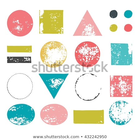 hand drawn, handcrafted, handmade stamp set and ink stains, textures, abstract shapes Stock photo © marish
