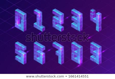 Kostki sieci numer dziewięć 3D 3d Zdjęcia stock © djmilic