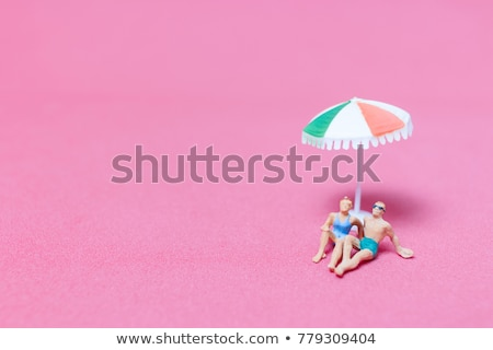 Miniature personnes maillot de bain plage homme Photo stock © nito