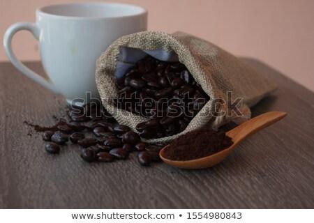 コーヒー豆 · ツリー · 生 · 食品 · コーヒー · 葉 - ストックフォト © denismart