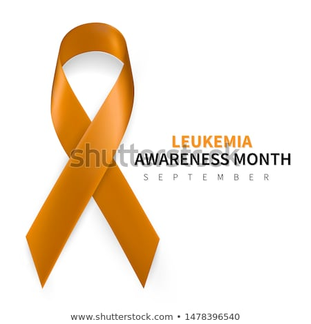 Leukemia Awareness Month. Realistic Orange ribbon symbol. Medical Design. Vector illustration Stock photo © olehsvetiukha
