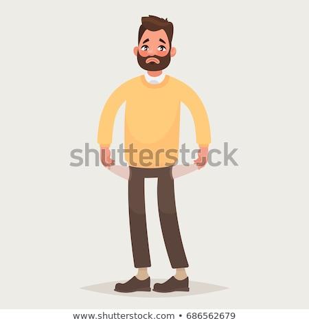 Sad man and a turn of the people illustration Stock photo © tiKkraf69