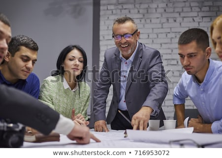 Stock photo: Teamwork process, Business team managers colleagues discussing a