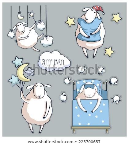 Baby Sleep Sheep Illustration Stock photo © lenm