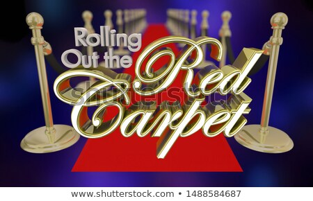 Rolling Out the Red Carpet VIP Treatment 3d Illustration Stock photo © iqoncept