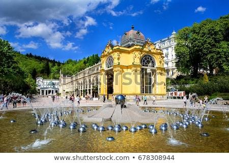 Kereszt tavasz fürdő Csehország város terv Stock fotó © borisb17