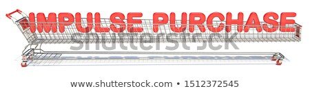 text impulse purchase in shopping cart 3d stock photo © djmilic