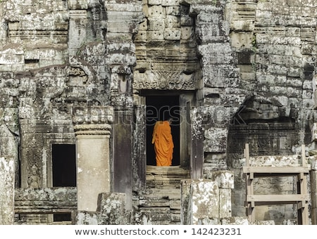 Angkor Wat symmetrie angkor Cambodja hemel reizen Stockfoto © lichtmeister