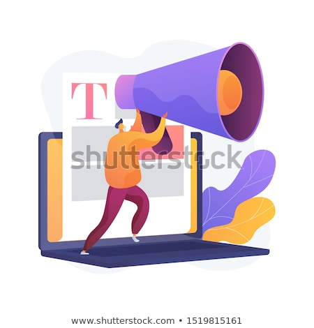 Stock photo: Content and mass media marketing vector concept metaphor.