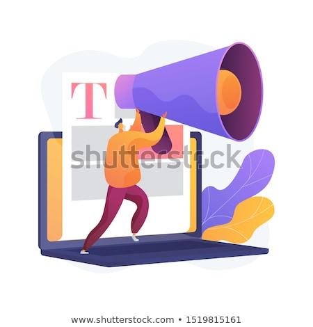 content and mass media marketing vector concept metaphor stock photo © rastudio