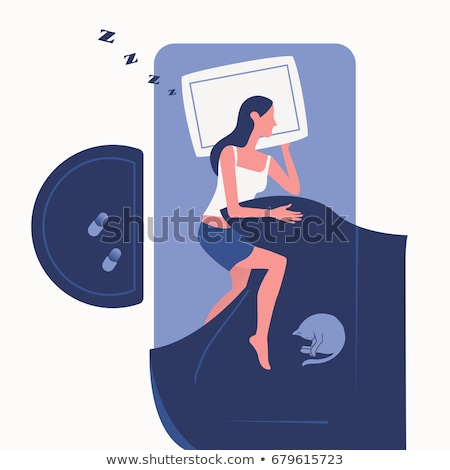 Pillow For Comfortable Sleeping Top View Vector Stock photo © pikepicture