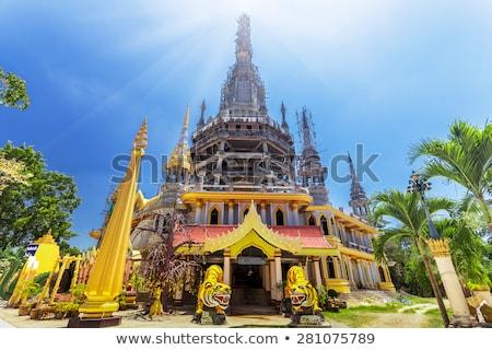 Krajobraz widoku Tygrys jaskini świątyni Tajlandia Zdjęcia stock © vapi