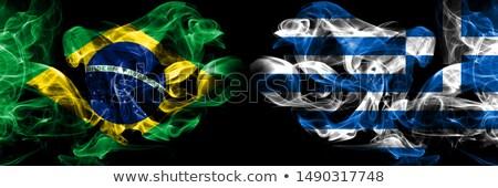 Futebol fogo grego bandeira futebol equipe Foto stock © doomko