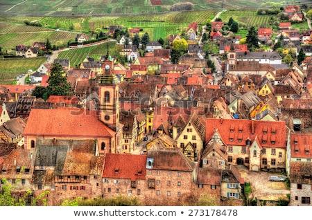 street in Ribeauville, Alsace, France Stock photo © borisb17