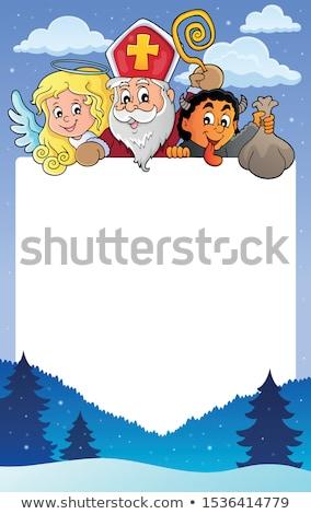 Saint Nicholas Day topic frame 1 Stock photo © clairev
