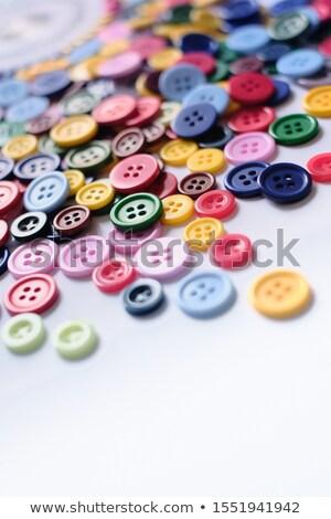 Stok fotoğraf: Büyük · bir · grup · renkli · plastik · dikiş · düğmeler · tablo