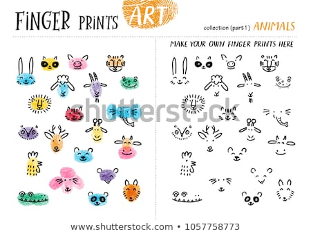 differences coloring task with farm animal characters stock photo © izakowski