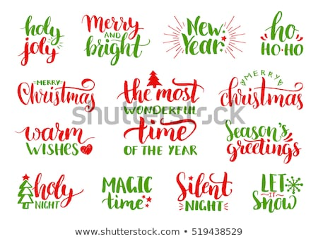 Warm Wishes text. lettering phrase for Christmas holidays greeting card, invitation, banner, postcar Stock photo © masay256