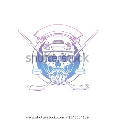 Kroki kafatası hokey kask Stok fotoğraf © netkov1