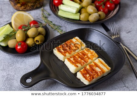 Stockfoto: Grill With Pepperoni And Tomatoes