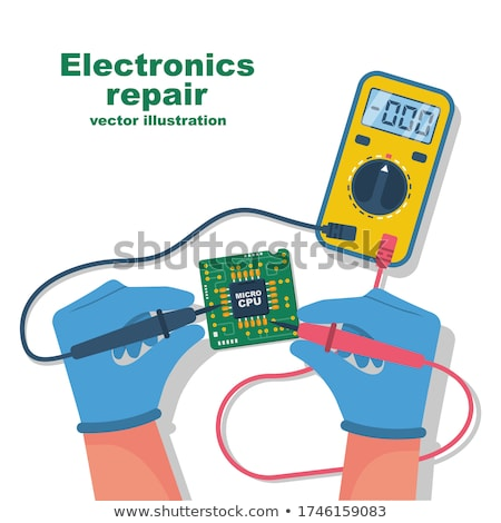 Professional digital multimeter and tools Stock photo © restyler