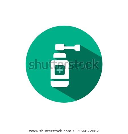 耳 スプレー アイコン 影 緑 サークル ストックフォト © Imaagio